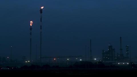 Oil refinery view ビデオ