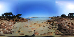 360 vr video of Capo Coda Cavallo shoreline. Sardinia, Italy Footage