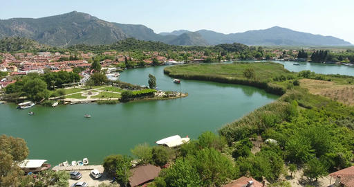 Aerial View of Dalyan Channel,Turkey Footage
