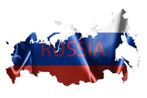 Map Of Russia With Flag Of Country On It 3D Illustration Fotografía