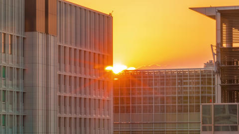 Sunset time-lapse in Tokyo, Japan GIF