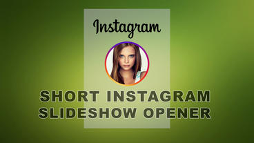 Short Instagram Slideshow opener Apple Motion Template