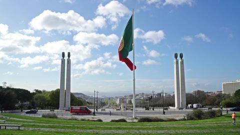 Portuguese flag Footage