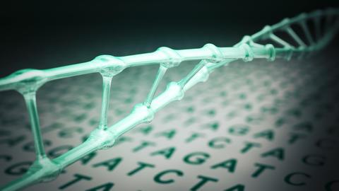 DNA spiral rotating loop Animation
