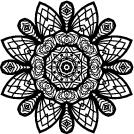 Flower Mandala. Vintage decorative elements Vector