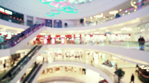 Blurred shopping mall center Footage