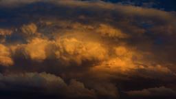 4K Timelapse, Dramatic Orange Clouds Footage