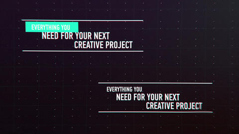 Glitch Lower Thirds and Titles After Effects Template