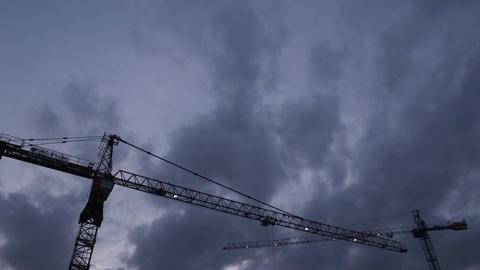 Tower Crane Time Lapse nomal Footage