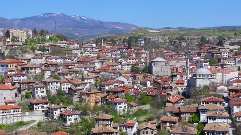 Day Timelapse, Traditional Ottoman Anatolian Village, Safranbolu, Turkey, zoom i Footage