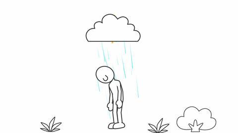 Simple Man in Rain & Shine: Looping Animation