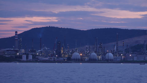 aliaga oil refinery, petrochemical petrol plant, izmir, turkey, timelapse Footage