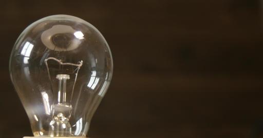 Lamp Bulb Rotating 4k stock footage