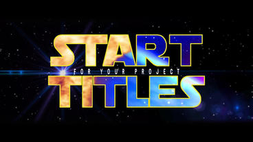 Classic Start Titles After Effects Project