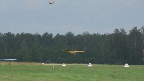 Aeroprakt A-22 light aircraft landing Footage
