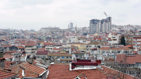 Ugly Roof Top view of Istanbul, Turkey Footage
