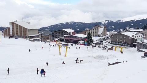 cableway to winter snow sport center, uludag, bursa, turkey Footage
