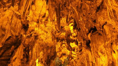 stalactite, inside Mencilis cave, safranbolu turkey Footage