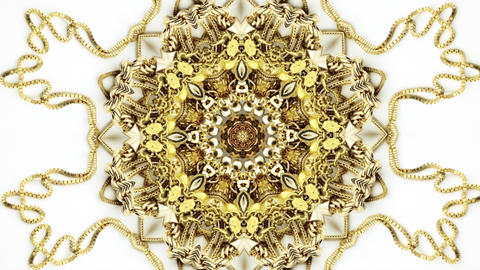 Zooming into gold jewelry photo Kaleidoscope Live Action