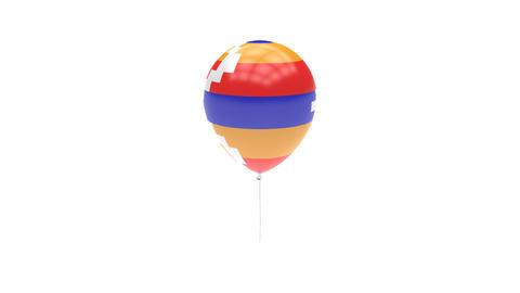Nagorno Karabakh Balloon Rotating Flag Animation - Alpha Channel - Transparent Animation
