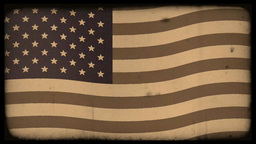 Old film effect added USA flag Animation