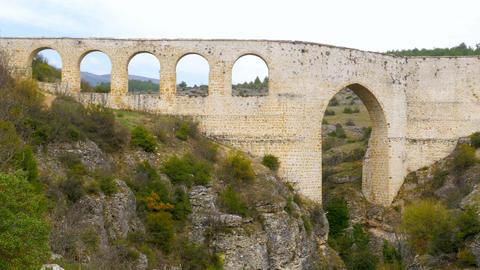 aqueduct, roman style water arch, safranbolu, turkey Footage