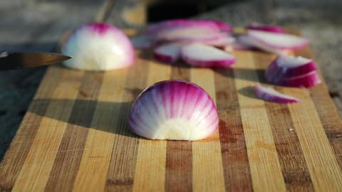 Onion cut hands knife cook food ライブ動画