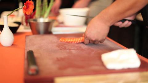 Sushi sashimi cooking salmon cut ライブ動画