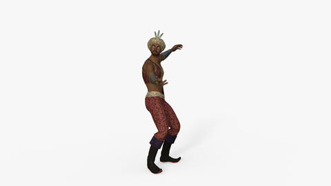oriental man dancing, loop,animation,transparent background Animation