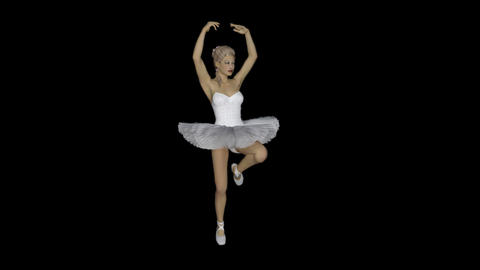 3d model ballerina dancing ,loop,animation,transparent background Animation