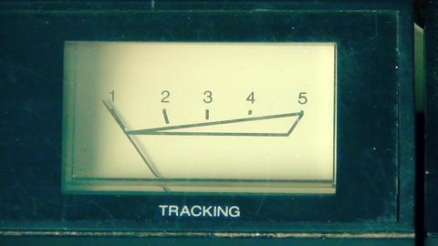 Analogue Vu Tracking Meter for VHS Tape Footage