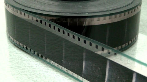 Starting Rewinding Reel Of Film.close up Footage