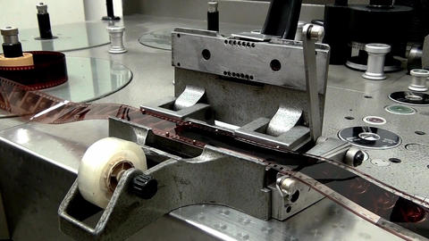 Retro Machine cutter for movie film Footage