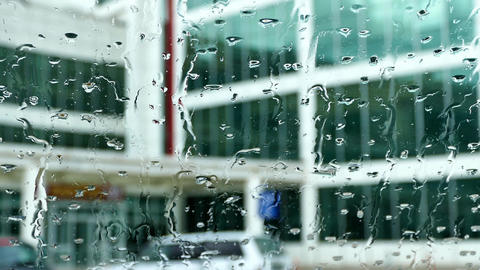 raindrops from the car window Footage