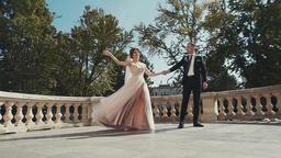 Wedding couple dances their first dance Footage