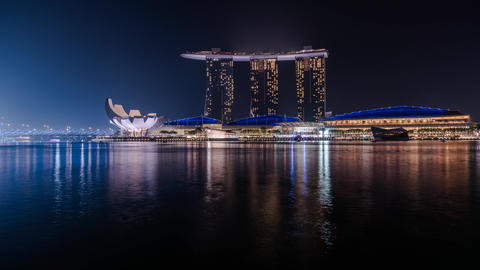 Marina Bay Sands Singapore Time-lapse 4K Footage
