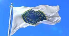 Flag of Benton, county of the state of Arkansas, in United States - loop Animation