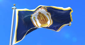 Flag of Springfield, city of Massachusetts in United States of America - loop Animation