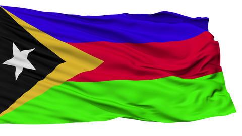 Isolated Bobonaro city flag, East Timor Animation