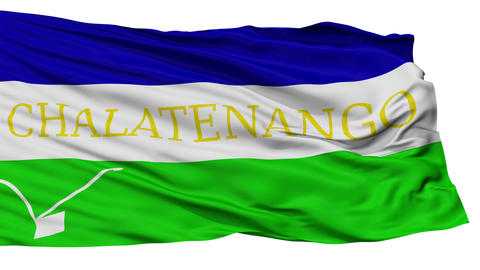 Isolated Chalatenango city flag, El Salvador Animation
