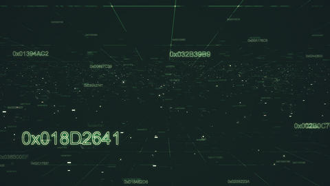 Data hud of grid numbers Animation