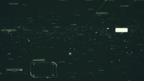 Data hud of grid numbers Stock Video Footage
