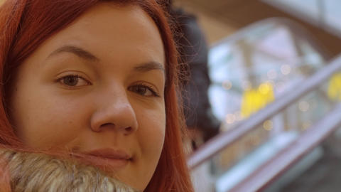 redhead female close up indoors GIF