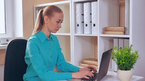 entrepreneur typing on laptop at work Footage