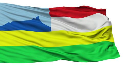 Isolated Kota Kinabalu city flag, Malaysia Animation