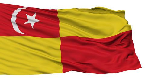 Isolated Selangor city flag, Malaysia Animation