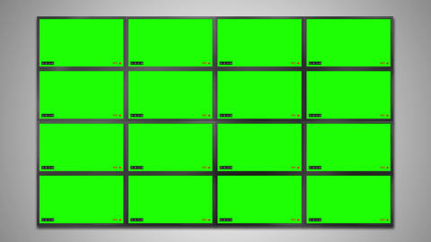 Cctv monitor display for security video Animation