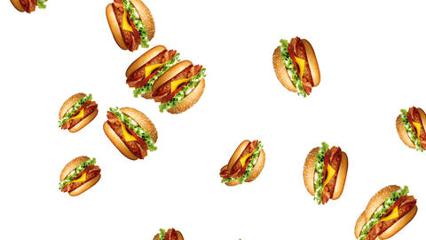 Abstract colorful burger animation CG動画素材