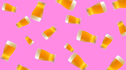 Abstract colorful glass of beer animation Animation