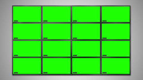 Cctv monitor display for video recorder Animation